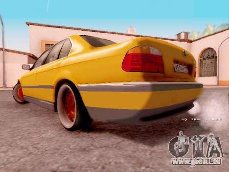 BMW 730i pour GTA San Andreas sur la vue arrière gauche
