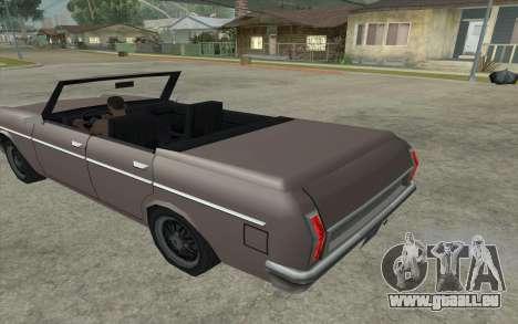 Perennial Cabriolet pour GTA San Andreas laissé vue