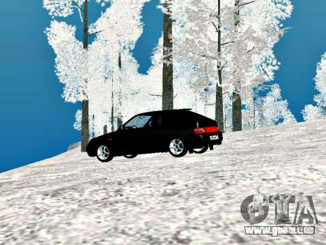 LADA 2112 coupé vert Sandpiper pour GTA San Andreas vue de droite