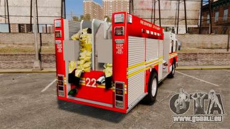 Firetruck FDLC [ELS] pour GTA 4 Vue arrière de la gauche