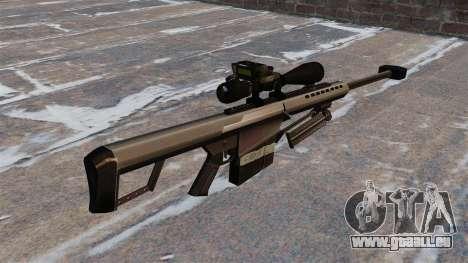 Le sniper Barrett M82 fusil Cal 50 pour GTA 4 secondes d'écran