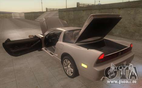 Acura NSX pour GTA San Andreas vue intérieure