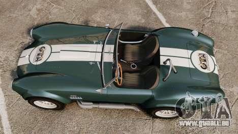 Shelby Cobra 427 SC 1965 pour GTA 4 est un droit