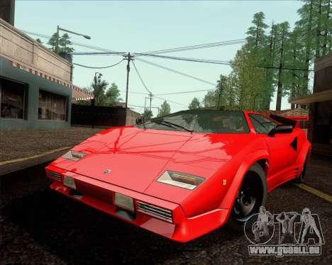 Lamborghini Countach LP500 Quattrovalvole 1988 für GTA San Andreas zurück linke Ansicht