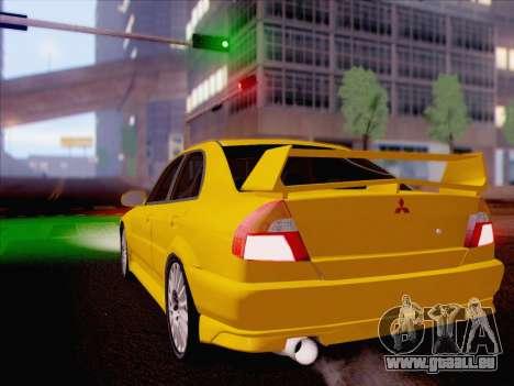 Mitsubishi Lancer Evolution VI LE pour GTA San Andreas laissé vue