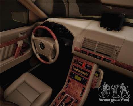 Mercedes-Benz S600 V12 Custom pour GTA San Andreas vue de droite