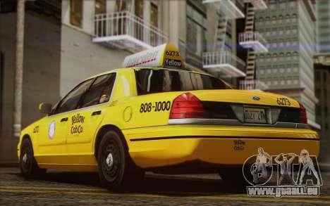 Ford Crown Victoria LA Taxi pour GTA San Andreas vue intérieure