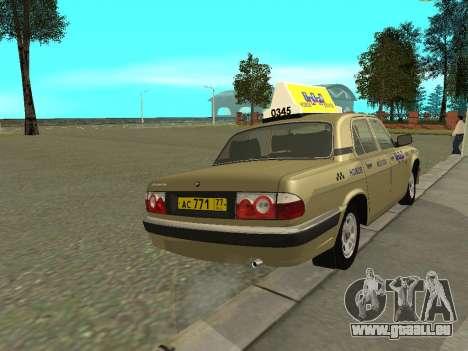 GAZ 31105 Volga Taxi für GTA San Andreas rechten Ansicht