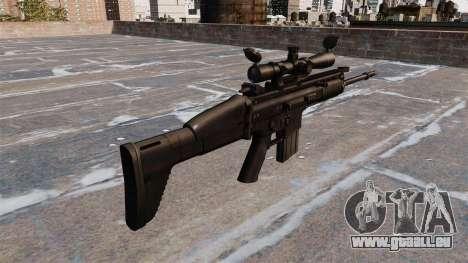 Fusil automatique FN SCAR-H pour GTA 4 secondes d'écran