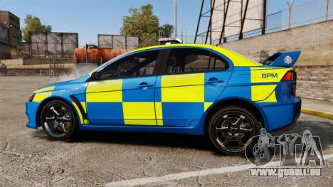 Mitsubishi Lancer Evo X Humberside Police [ELS] pour GTA 4 est une gauche