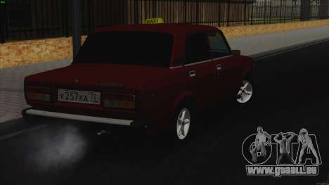 VAZ 2107 Bombilla für GTA San Andreas zurück linke Ansicht