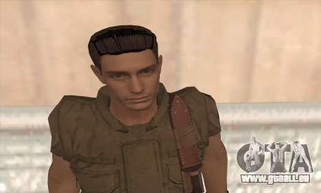 Chris Redfield v2 pour GTA San Andreas troisième écran