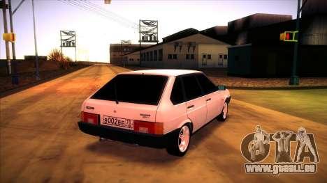 Vaz 2109 c. 2 pour GTA San Andreas sur la vue arrière gauche