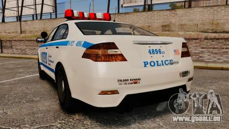 GTA V Police Vapid Interceptor NYPD für GTA 4 hinten links Ansicht