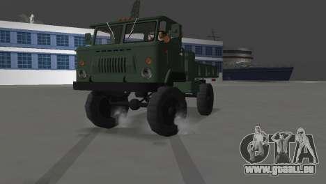 GAZ 66 pour GTA Vice City vue arrière