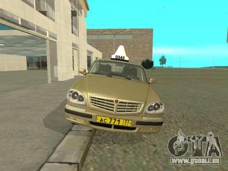 GAZ 31105 Volga Taxi für GTA San Andreas linke Ansicht