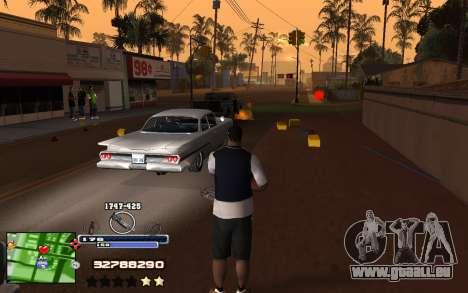 C-HUD Into pour GTA San Andreas troisième écran