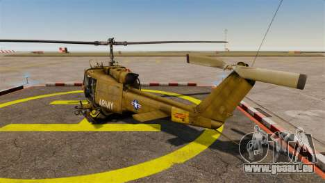 Bell UH-1 Iroquois v2.0 Gunship [EPM] pour GTA 4 Vue arrière de la gauche