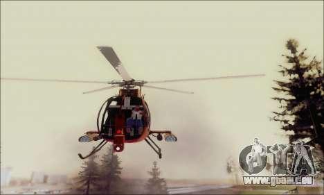 Bussard Angriff Hubschrauber von GTA 5 für GTA San Andreas Seitenansicht