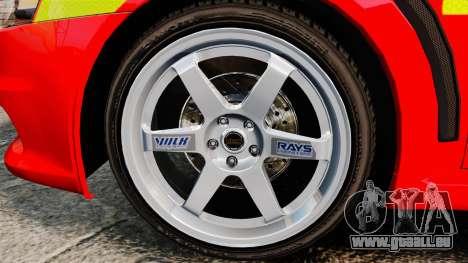Mitsubishi Lancer Evo X Fire Department [ELS] für GTA 4 Rückansicht