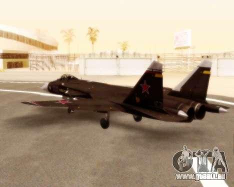 Su-47 Berkut v1.0 pour GTA San Andreas vue arrière