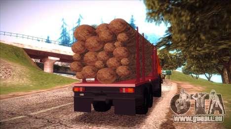 Transporteur de bois 54115 KAMAZ pour GTA San Andreas vue de droite