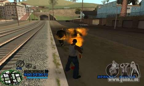 C-HUD CutHot pour GTA San Andreas deuxième écran