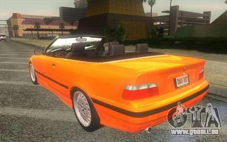 BMW 325i E36 Convertible 1996 pour GTA San Andreas laissé vue