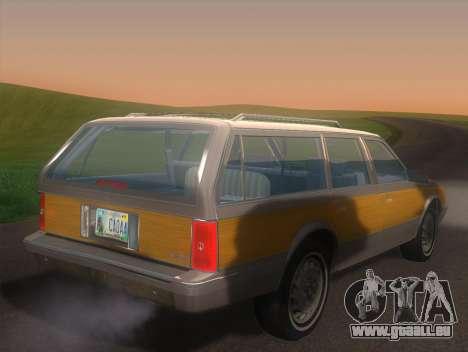Oldsmobile Cutlass Ciera Cruiser pour GTA San Andreas laissé vue