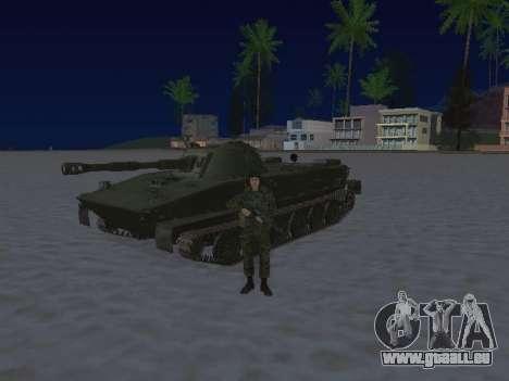 PT-76 pour GTA San Andreas sur la vue arrière gauche