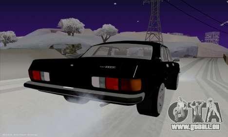 GAZ 3102 Wolga für GTA San Andreas zurück linke Ansicht