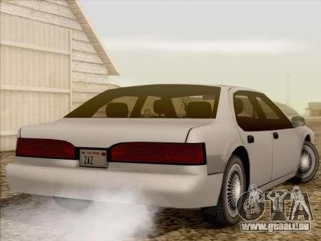 Fortune Sedan pour GTA San Andreas laissé vue
