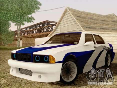 Sentinel ST pour GTA San Andreas vue arrière