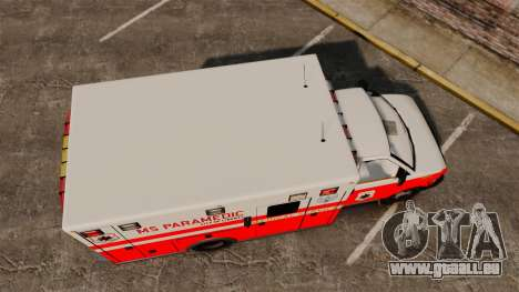 Brute Ambulance FDLC [ELS] für GTA 4 rechte Ansicht