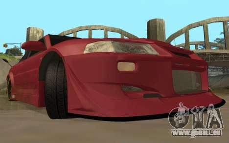 Mitsubishi Lancer Evolution VI für GTA San Andreas Rückansicht