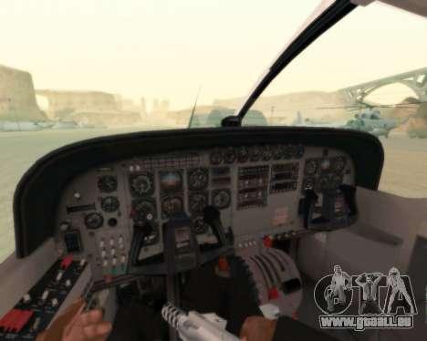 Cessna 208B Grand Caravan für GTA San Andreas obere Ansicht