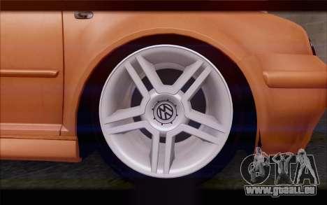 Volkswagen Golf IV für GTA San Andreas Rückansicht