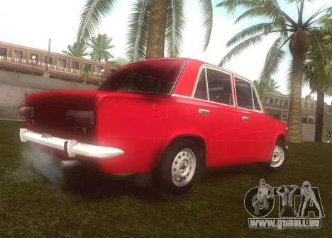Fiat 124 pour GTA San Andreas sur la vue arrière gauche