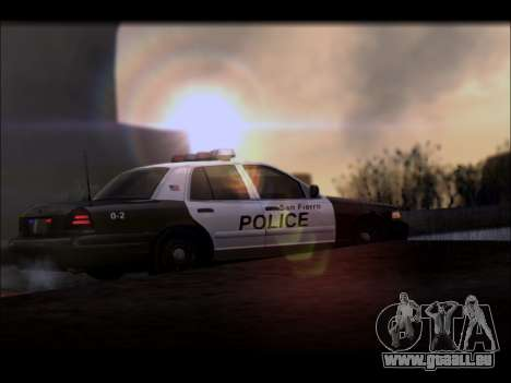 Ford Crown Victoria 2005 Police für GTA San Andreas Rückansicht
