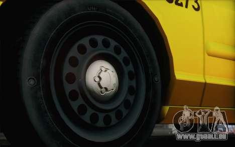 Ford Crown Victoria LA Taxi pour GTA San Andreas vue arrière