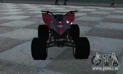 GTA 5 Blazer ATV für GTA San Andreas Rückansicht
