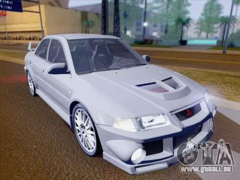 Mitsubishi Lancer Evolution VI LE pour GTA San Andreas vue de dessous