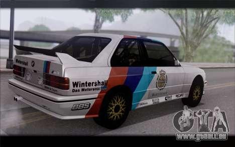 BMW M3 E30 Racing Version pour GTA San Andreas laissé vue