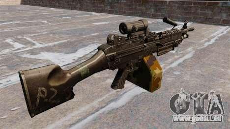 Leichtes Maschinengewehr M249 sah für GTA 4 Sekunden Bildschirm