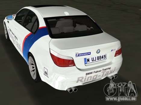 BMW M5 (E60) 2009 Nurburgring Ring Taxi für GTA Vice City linke Ansicht