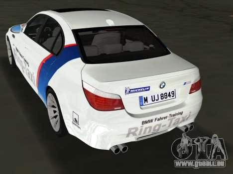 BMW M5 (E60) 2009 Nurburgring Ring Taxi für GTA Vice City linke Ansicht