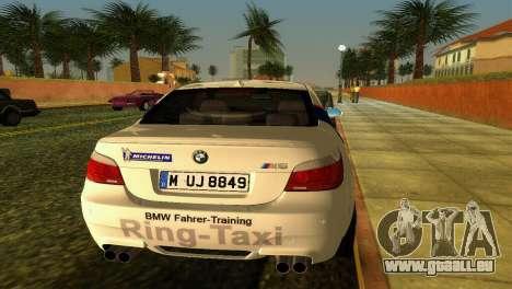 BMW M5 (E60) 2009 Nurburgring Ring Taxi für GTA Vice City Rückansicht