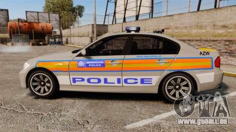 BMW 330 Metropolitan Police [ELS] für GTA 4 linke Ansicht