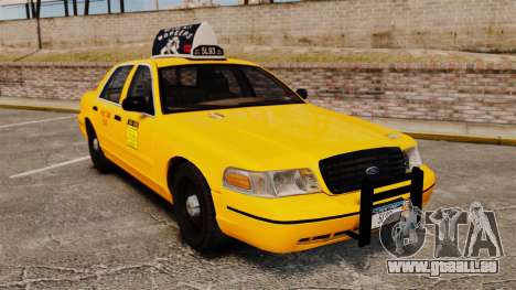 Ford Crown Victoria 1999 NY Old Taxi Design pour GTA 4