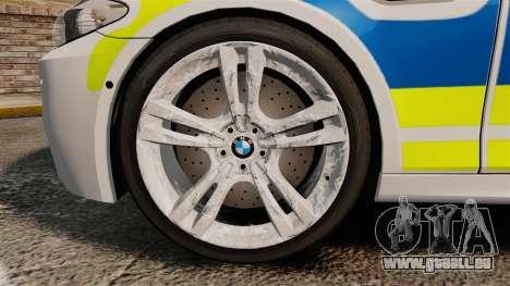 BMW M5 Marked Police [ELS] für GTA 4 Rückansicht